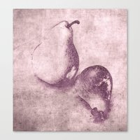 pear Canvas Prints featuring pear by otherside