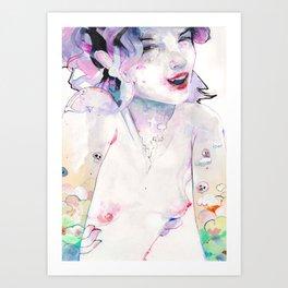 Cherry Pie says Hi Art Print