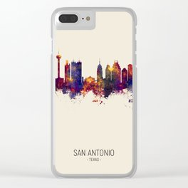 San Antonio Texas Skyline Clear iPhone Case