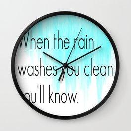 Ombre - Blue - Dreams by Fleetwood Mac Wall Clock