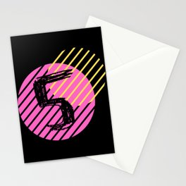Lucky Number Circle: Five Stationery Cards