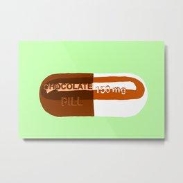 Chocolate Pill Mint Metal Print