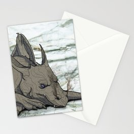 Grey Dragon Stationery Cards