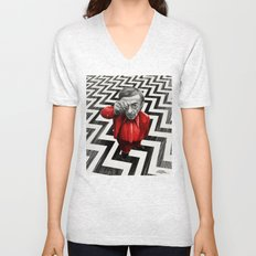 Homage to Twin Peaks - Fire walk with me Unisex V-Neck
