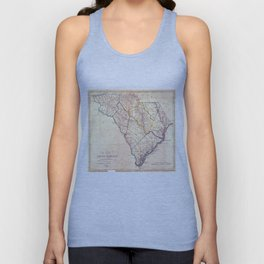 Vintage Map of South Carolina (1818) Unisex Tank Top