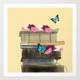 Books and Butterflies - An Introverts Dream Art Print