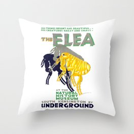 1926 The Flea At The Natural History Museum Poster Throw Pillow