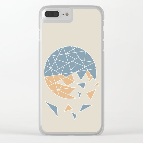 DISASTER (abstract geometric) Clear iPhone Case