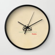 I Thought Of That While Riding My Bicycle Einstein Wall Clock