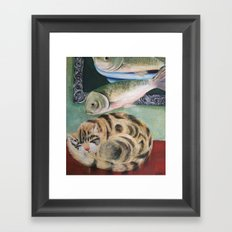 happy dreamer Framed Art Print