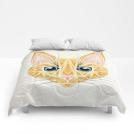 orange cat Comforters