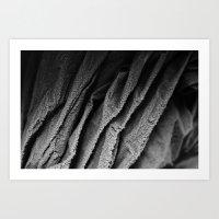 Something black, but winter white Art Print