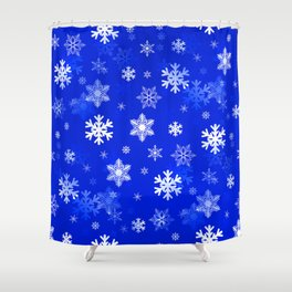Light Blue Snowflakes Shower Curtain