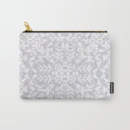 Makai Geo White Carry-All Pouch