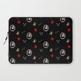 Anne Boleyn red on black roses keys Laptop Sleeve