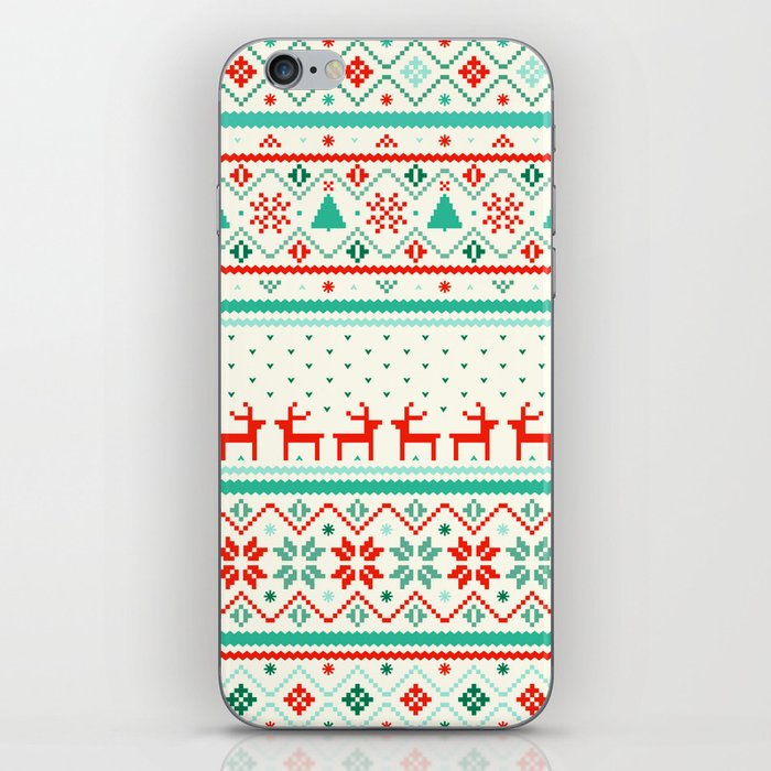 Festive Fair Isle iPhone Skin