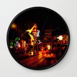 Vegas Nightlife - Las Vegas Nevada Wall Clock