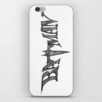 bat iPhone & iPod Skins featuring Bat by Vickn