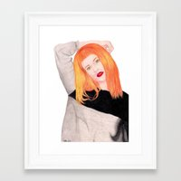 hayley williams Framed Art Prints featuring Hayley Williams by Natalie Huber