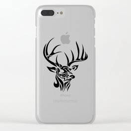 Tribal - Deer Clear iPhone Case