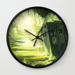 Tardis In The Swamp Wall Clock
