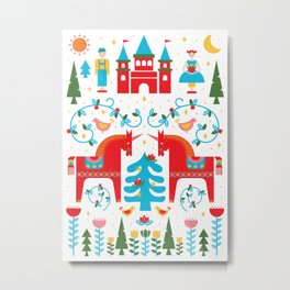 Scandinavian Inspired Fairytale - Bright Metal Print