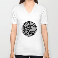 dublin V-neck T-shirts featuring Spirals - pieces of Dublin by Arianna Sulpizi