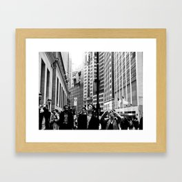 NEW YORK//TOURISTS Framed Art Print