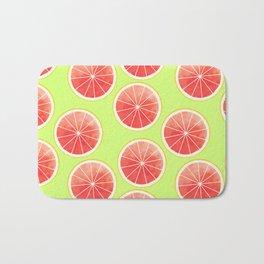 Pink Grapefruit Slices Pattern Bath Mat