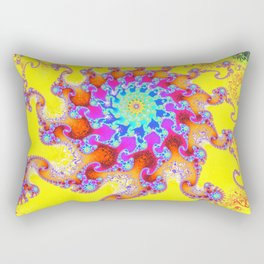 Tropical Octopus Fractal Rectangular Pillow
