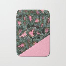 Pink on Coleus Plant Bath Mat