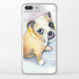Sweet Bulldog Puppy Clear iPhone Case