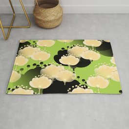 Abstract floral thoughts Rug