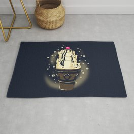 Ice Cream Bears (Dark Blue) Rug