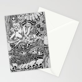 Mind Control Pizza Gypsies  Stationery Cards