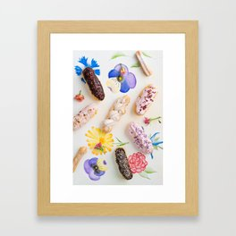 Eclairs with toppings Framed Art Print
