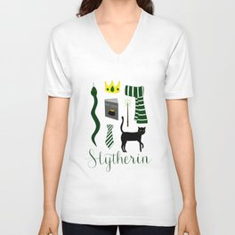 The House of Slytherin Unisex V-Neck