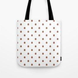 Lucky Ladybug Watercolor Print Pattern Tote Bag