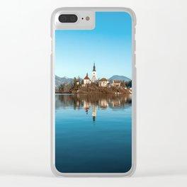 Bled Lake (Slovenia) Fairy tale landscape Clear iPhone Case