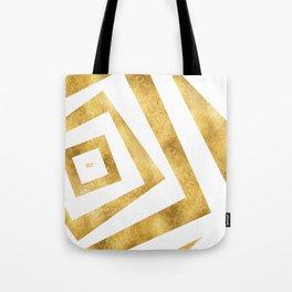 ART DECO VERTIGO WHITE AND GOLD #minimal #art #design #kirovair #buyart #decor #home Tote Bag