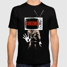 Consume Black Mens Fitted Tee LARGE