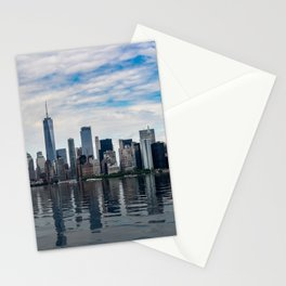 Dramatic skyline of New York City Stationery Cards