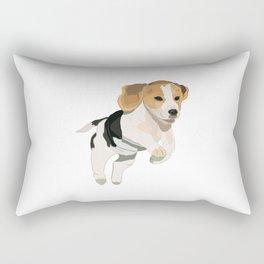 Beagle Art, beagle puppy, digital painting Rectangular Pillow