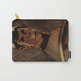 Original Leonard Nimoy (mr. Spock) on enterprise series of wood by Andulino Carry-All Pouch