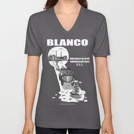 Blanco Unisex V-Neck