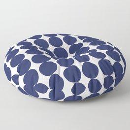 Midcentury Modern Dots Navy Floor Pillow
