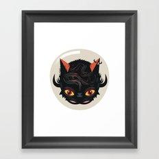 Devil cat Framed Art Print