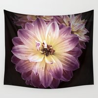 dahlia Wall Tapestries featuring Dahlia by Grace Thanda
