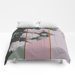 Pink Roses Palette Comforters