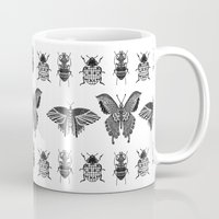 insects Mugs featuring insects by Textile Candy
